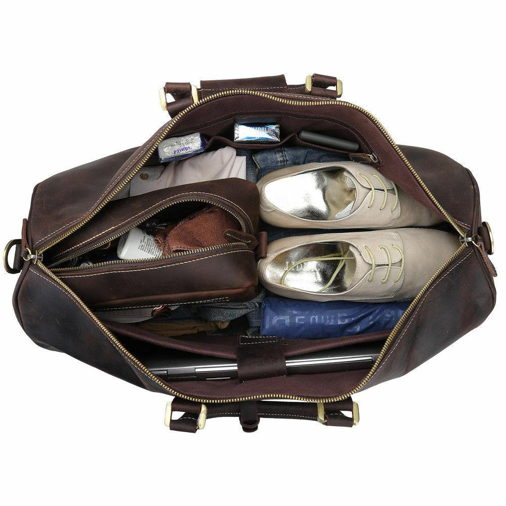 Men Genuine Luggage Duffle Laptop Travel