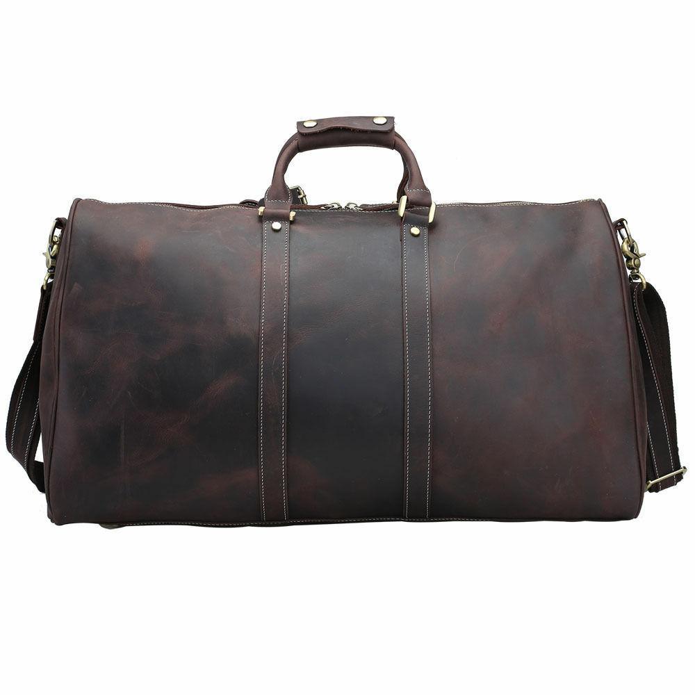 Men Genuine Luggage Laptop Shoulder