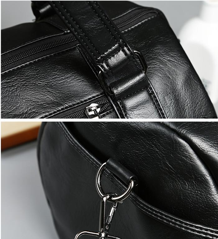 Men's Travel Gym Leather Luggage Bag Bag
