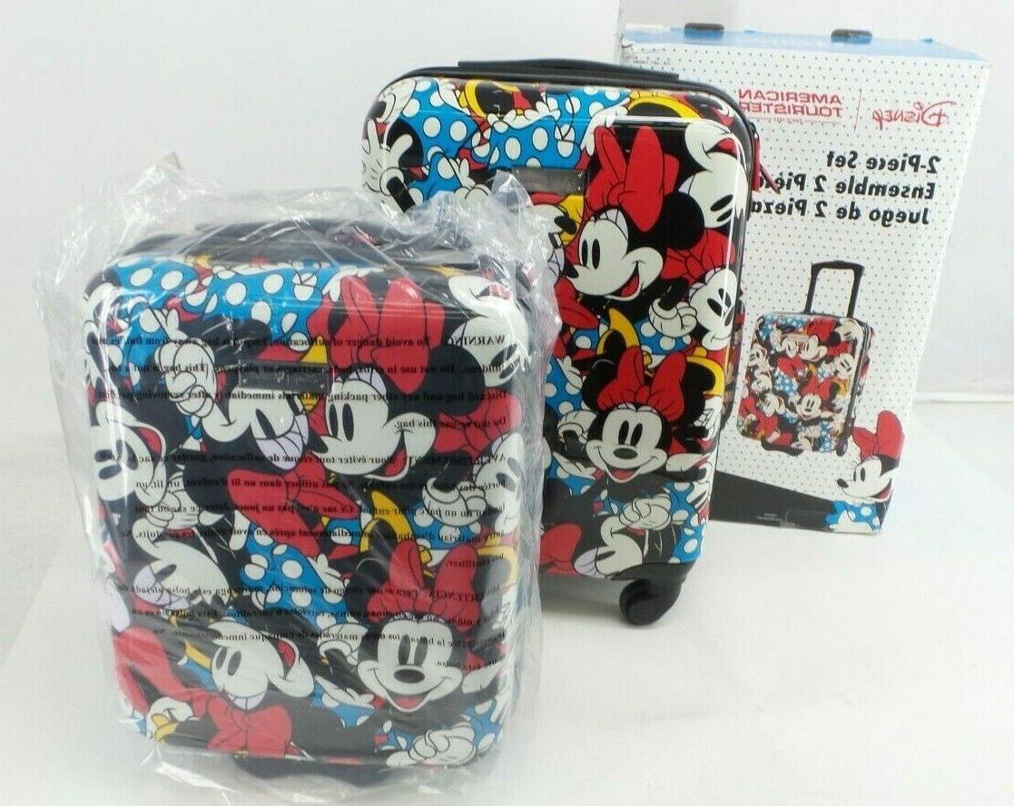 "Disney Minnie Mouse American Tourist 2-Piece Set 20"" Spinner"