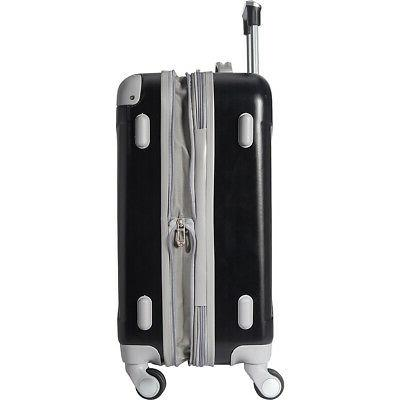 "Travelers Club Luggage Modern 20"" Hardside Carry-On NEW"