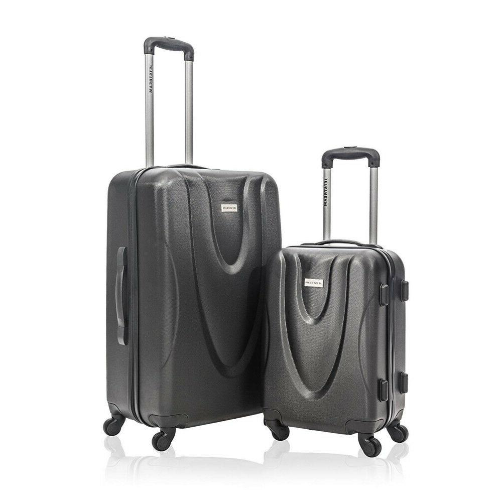 new 2 piece hardside carry on spinner
