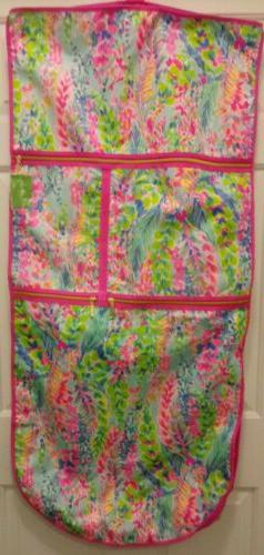 New Lilly Pulitzer Garment Bag Catch the Wave Travel Luggage