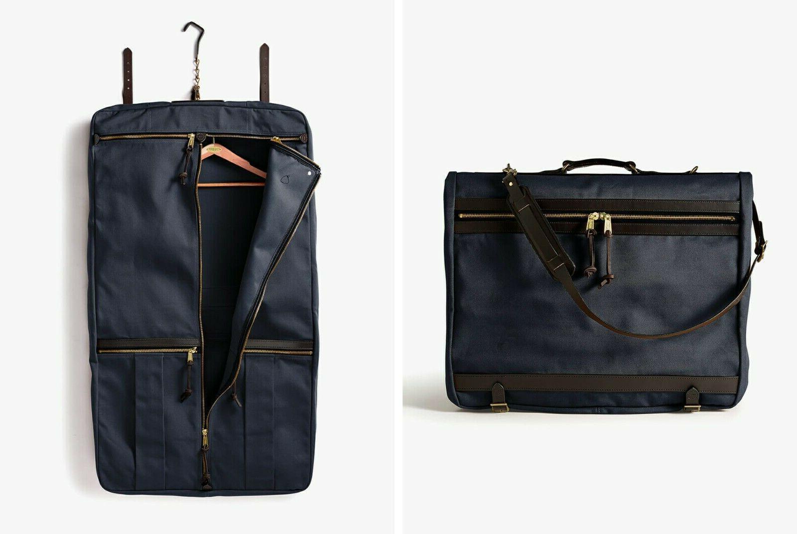 nwt rugged twill bridle leather garment bag