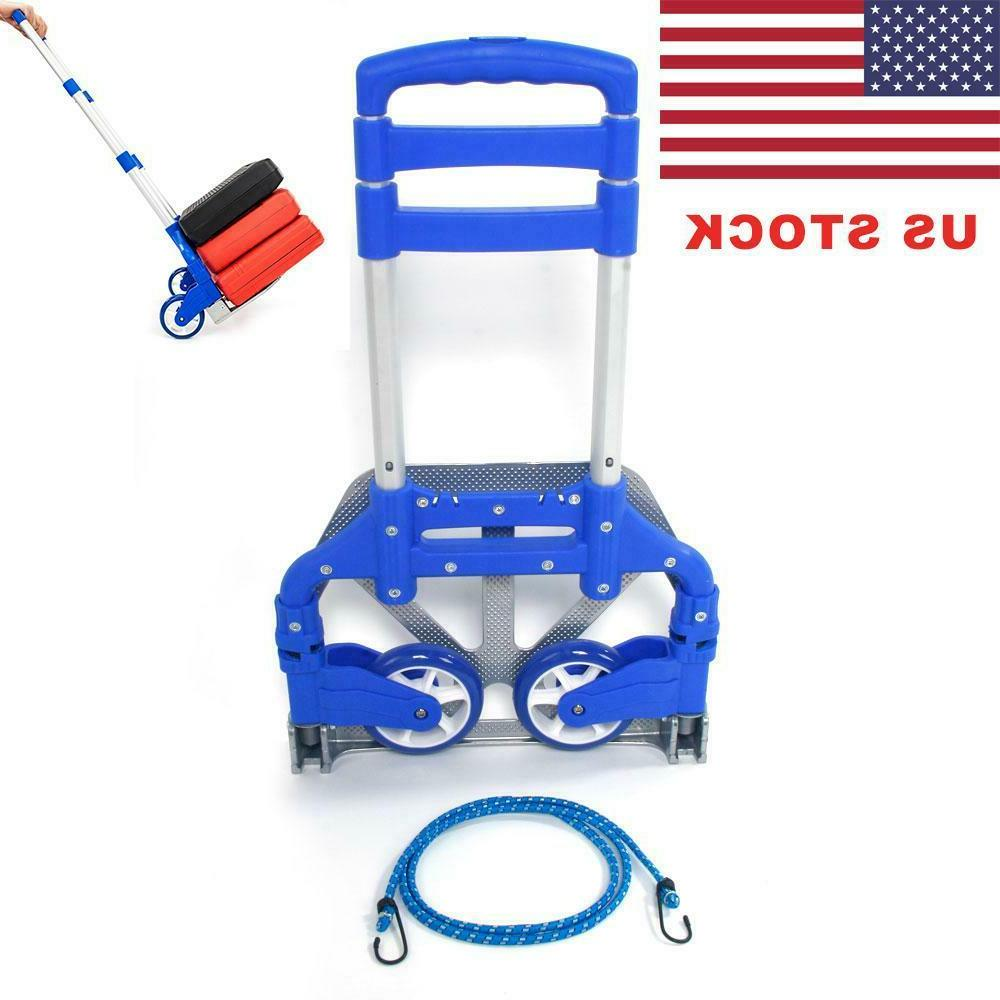 portable luggage cart dolly includes cord folding
