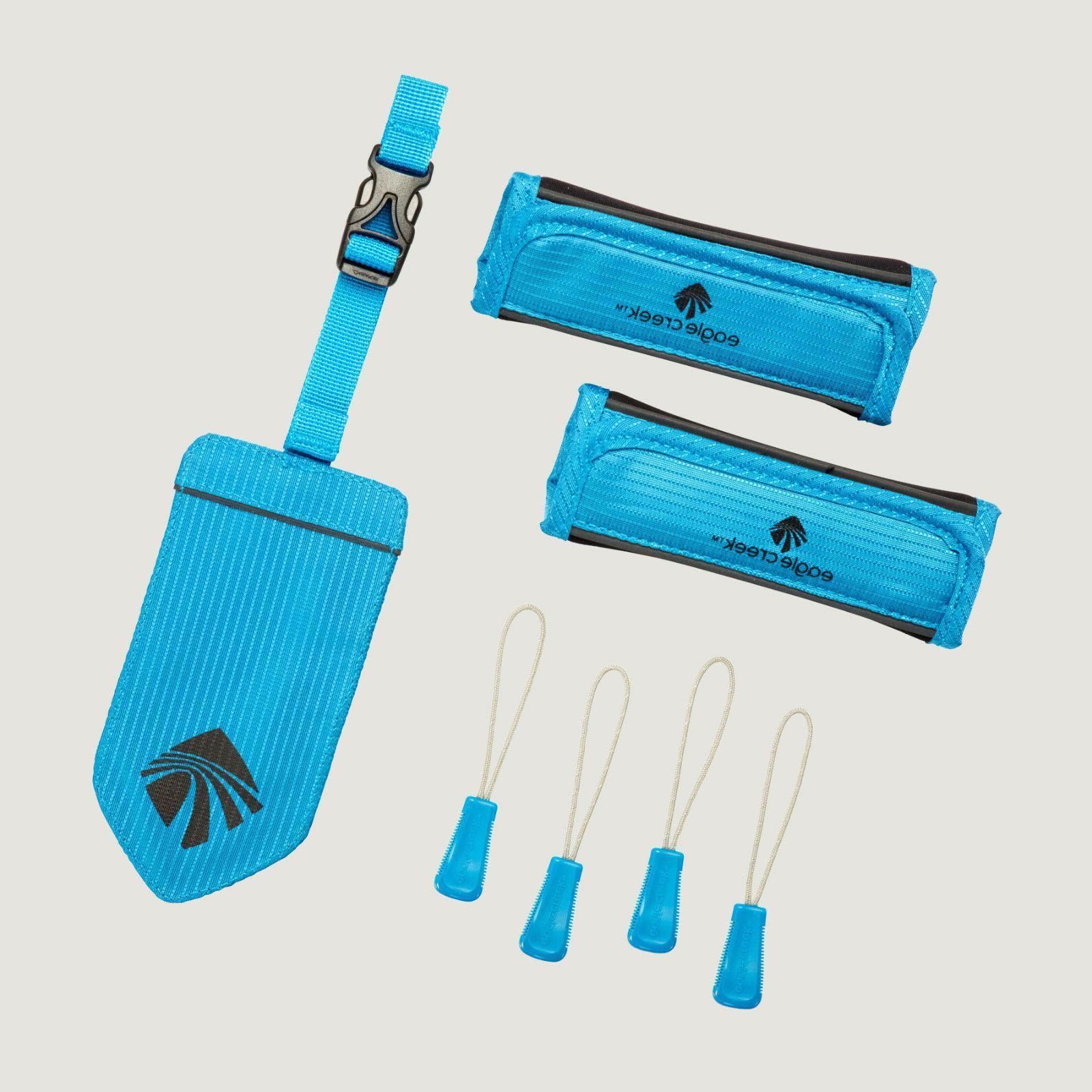 reflective luggage id tag handle wrap zipper