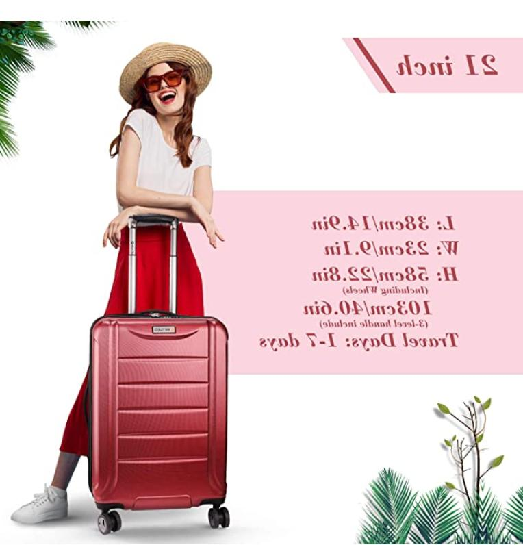 REYLEO 21 Inch PC Carry Luggage Travel USB