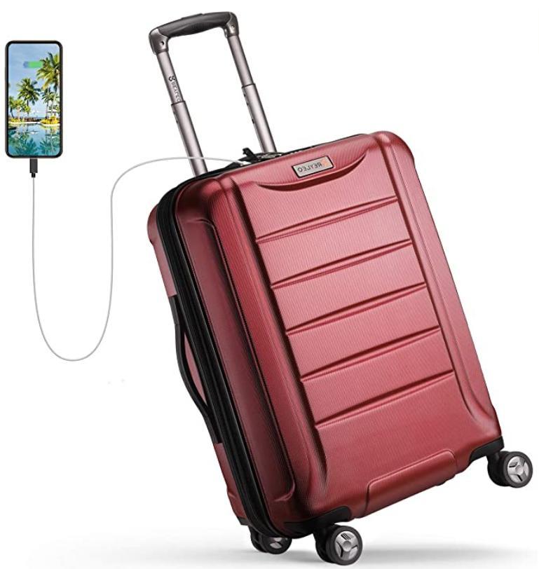reyleo expandable luggage 21 inch pc carry