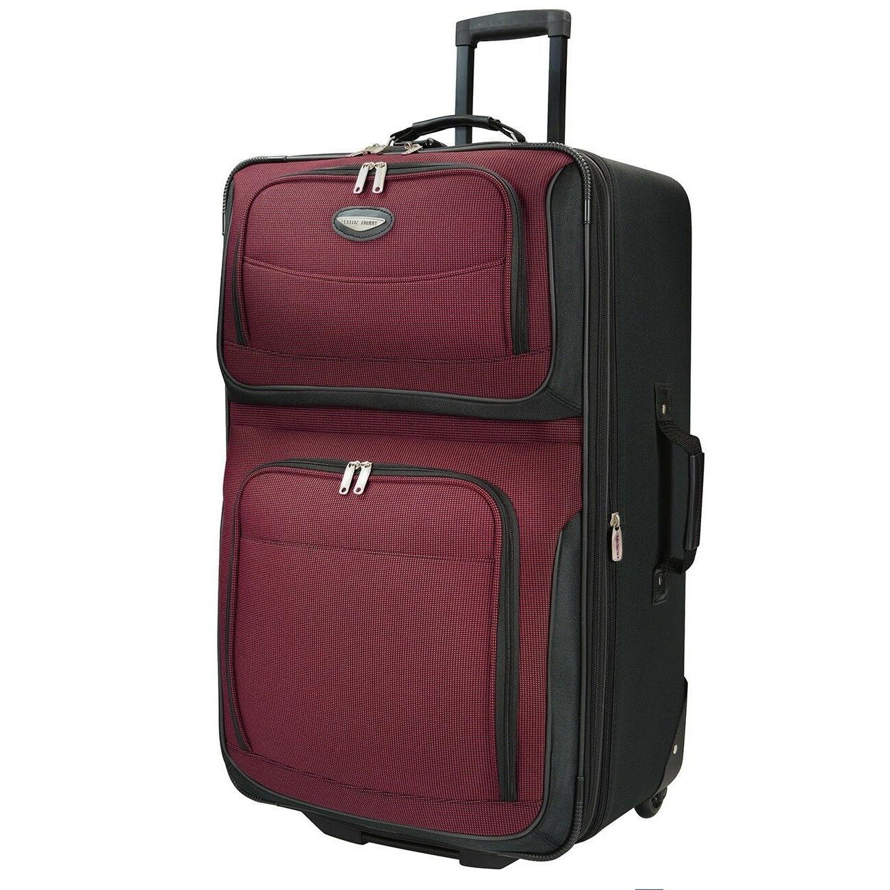 Carry-on Expandable Rolling Luggage Suitcase Bag