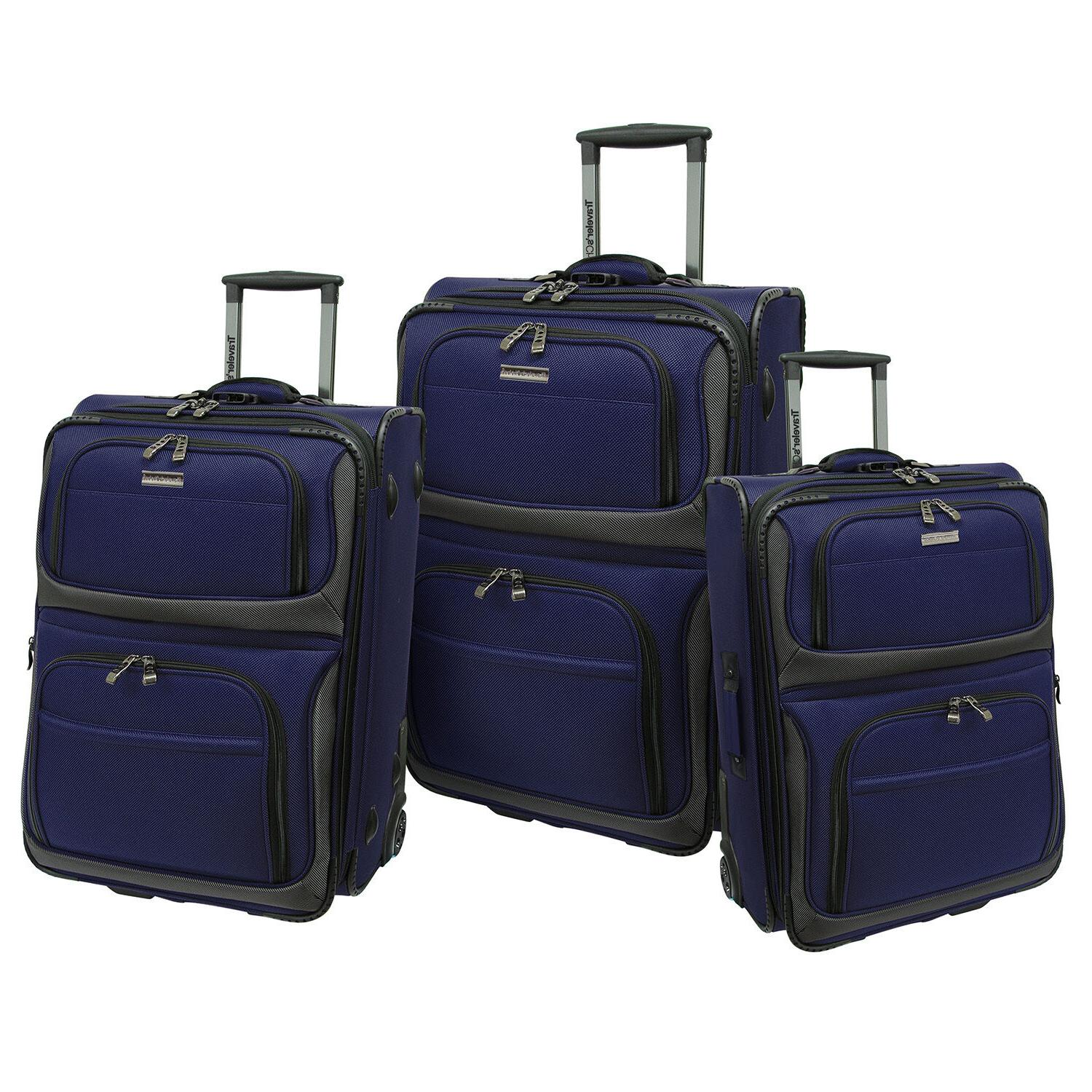 """Traveler's Conventional 22"""" Rugged Carry-On Rolling Luggage"""