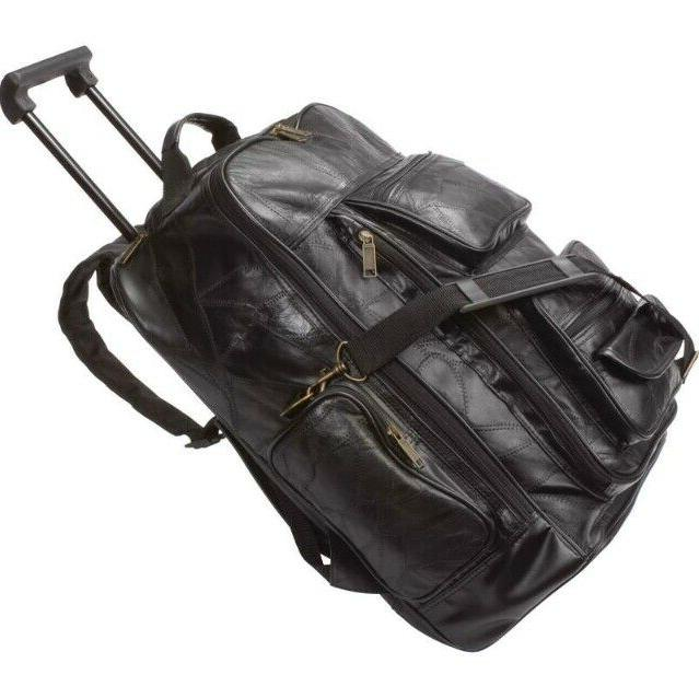 trolley backpack rolling luggage genuine leather travel