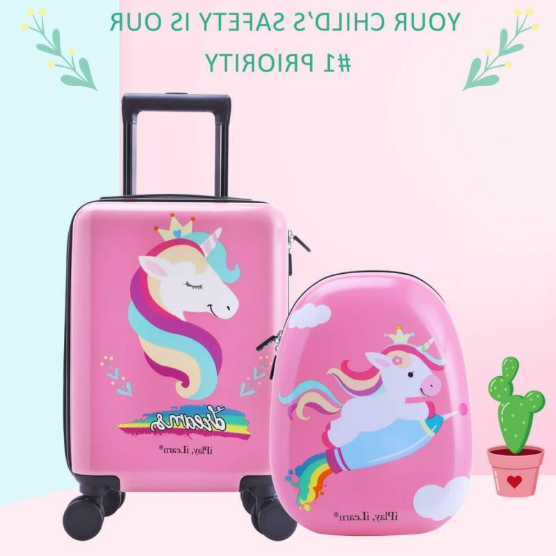 Unicorn Kids Luggage Spinner Wheels, Travel