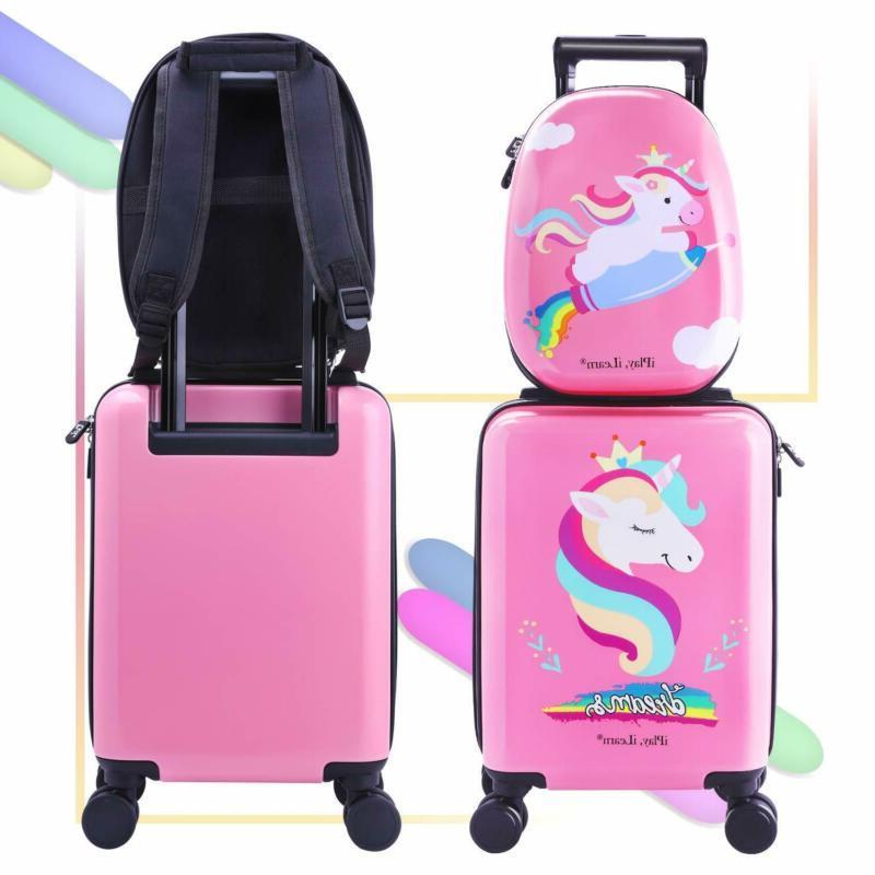 Unicorn Luggage Set Wheels, Travel Suitcase