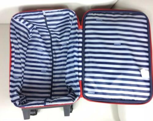 Penny Scallan Wheelie Luggage Wheels Kids Overnight Bag Stars Blue New