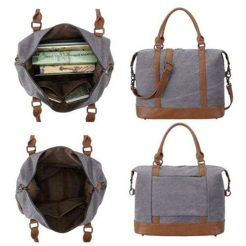 Women Ladies Canvas Bag Carry-on Tote Duffel in