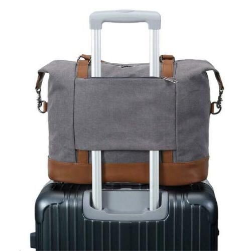 women ladies canvas weekender bag overnight carry