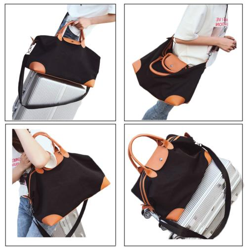 Women Tote Canvas PU Overnight Bags