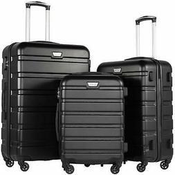 Luggage 3 Pcs Set Suitcase Rolling Lightweight Set Hardshell