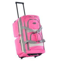 Olympia Luggage Sports Plus 22 Inch 8 Pocket Rolling Duffel