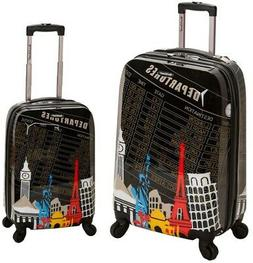 Rockland Luggage Set Bag Carry On Travel Rolling Hard Case 2
