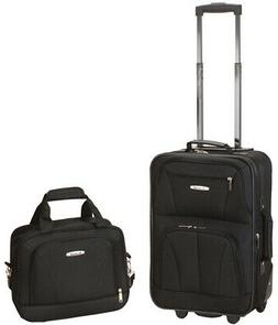 ROCKLAND Luggage Set Carry-On Soft-Side Expandable Skate Whe
