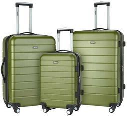 Wrangler Luggage Set Folding Drink Holder Hardside Vertical