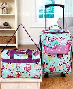 Luggage Set For Girls Owl Print Going To Grandmas Tote Bag R