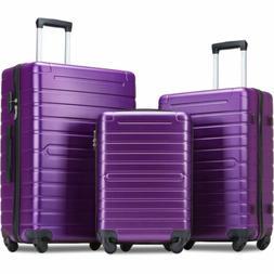 Flieks Luggage Sets 3 Piece Hardside Spinner Light weight  2