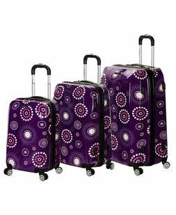 Rockland Luggage Vision Polycarbonate 3 Piece Luggage Set, P