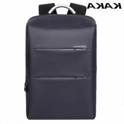 Men's Casual Polyester Backpack Waterproof USB Charging Trav