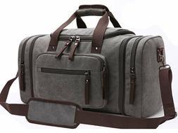Mens Business Travel Garment Bag Carry On  Canvas Gym Luggag