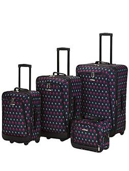 Rockland Luggage 4 Piece Metropolitan Luggage Set
