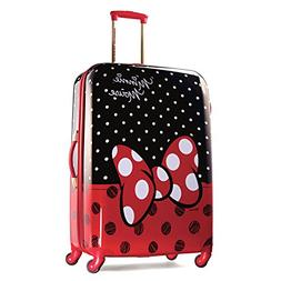 """Disney Minnie Mouse Red Bow 28"""" Hardside Spinner Suitcase by"""