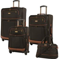 Tommy Bahama Mojito Dark Brown 4 Piece Spinner Luggage Set $
