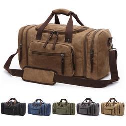New Canvas Men Women Travel Bag Tote Handbag Luggage Duffle