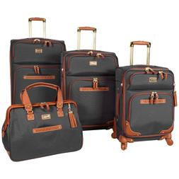 NEW Steve Madden Luggage Softside 4 piece Spinner Suitcase C