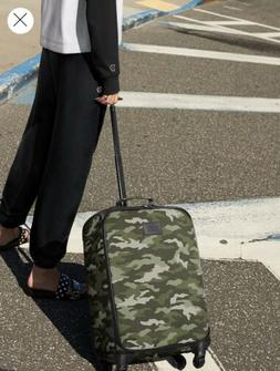 New Victoria Secret Pink Luggage Camo Camouflage Green Suitc