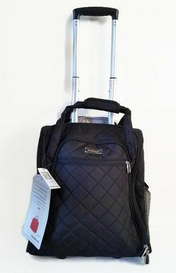 NWT Rockland Carry On Luggage Wheeled Underseat Black BF31
