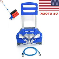 Portable Luggage Cart Dolly Includes Cord Folding Collapsibl