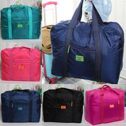 Portable Womens Men Foldable Travel Storage Luggage Big Hand