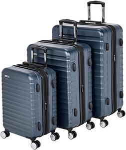AmazonBasics Premium Hardside Spinner Luggage with Built-In