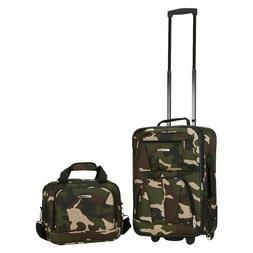 "Rockland Rio 2-pc. Luggage Set-Camo 19"" Carry-on"