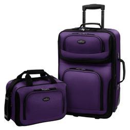 U.S. Traveler RIO 2-Piece Expandable Carry-On Luggage Set, P