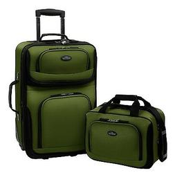 U.S. Traveler RIO 2-Piece Expandable Carry-On Luggage Set, G