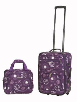 Rockland Rio Upright Carry-On & Tote 2-Piece Luggage Set - P