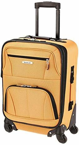 Rockland Luggage 19 Inch Expandable Spinner Carry On, Orange