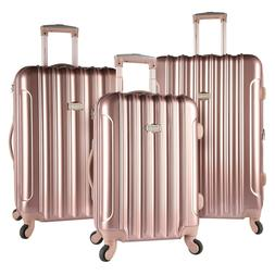 ROSE GOLD Kensie Luggage 3 PC Expandable Hard Side Double Sp