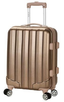 Rockland Santa Fe Hardside Spinner Wheel Luggage Bronze Carr