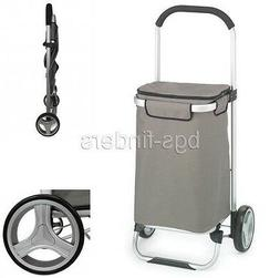 Shopping Bag Cart Foldable Tote Trolley Grocery Rolling Lugg