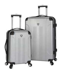 Silver Travelers Club Chicago 2 Piece Expandable Hard Side S